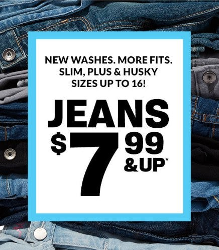Jeans $7.99 & Up from The Children's Place