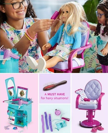 New Ways to Style, Care for, & Play with Hair for Girls & Dolls from American Girl Place