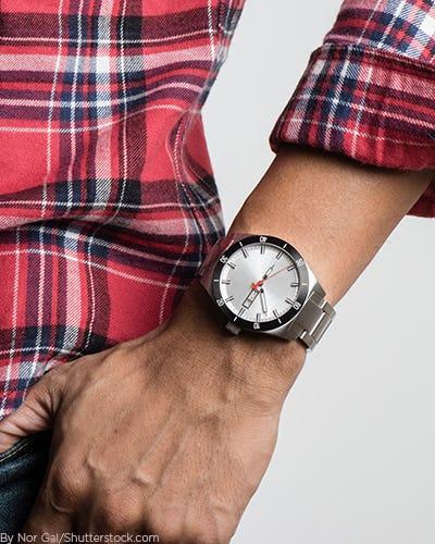 A man wearing a watch