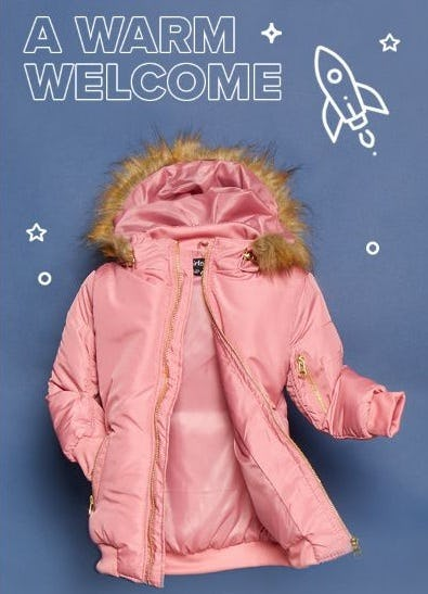 Warm Jackets for Girls from Rainbow