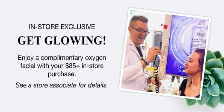 Complimentary Oxygen Facial with Your $85+ Purchase from Kiehl's
