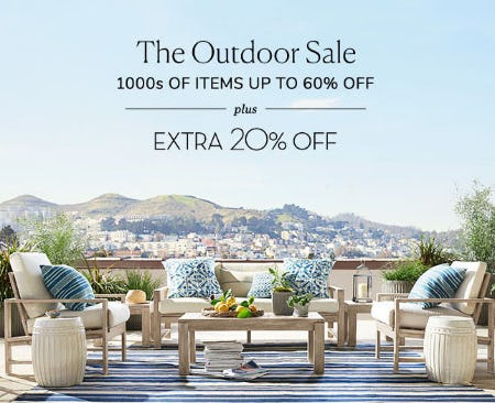 Up to 60% Off The Outdoor Sale from Pottery Barn