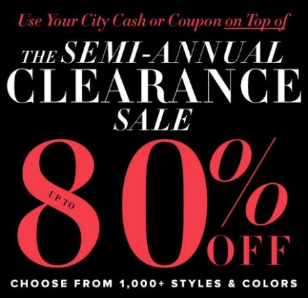 Semi-Annual Clearance: Up to 80% Off from New York & Company