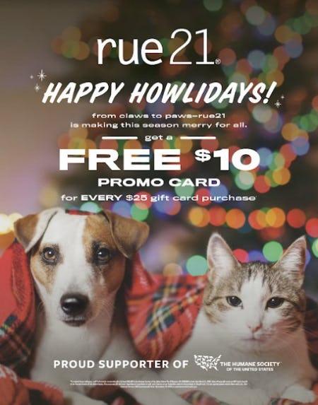 Free $10 Promo Card
