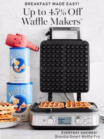 Up to 45% Off Waffle Makers