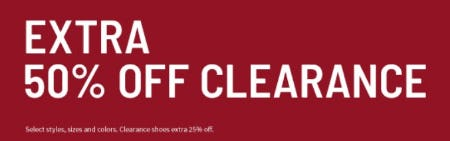 Extra 50% Off Clearance from Jos. A. Bank