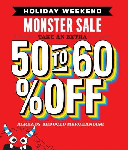 Monster Sale
