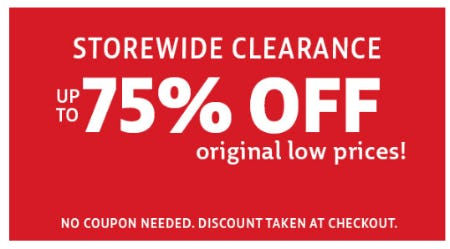 Storewide Clearance up to 75% Off from Stein Mart