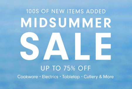 Mid Summer Sale: Up to 75% Off from Williams-Sonoma