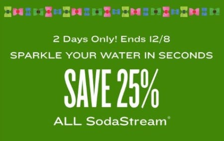 25% Off All SodaStream from Cost Plus World Market