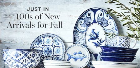 New Arrivals for Fall from Williams-Sonoma