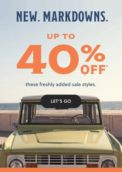 New Markdowns up to 40% Off from Fossil