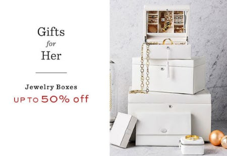 Up to 50% Off Jewelry Boxes from Pottery Barn