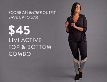 e9087b7826 $45 LIVI Active Top & Bottom Combo