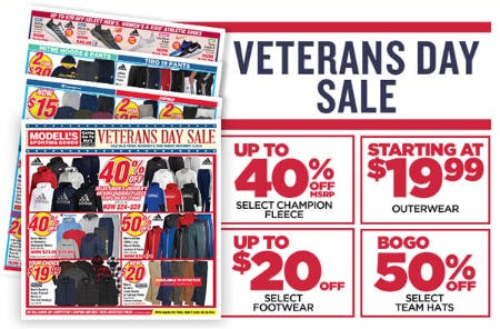 Veterans Day Sale from Modell's