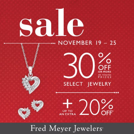 Fred Meyer Jewelers Thanksgiving Week Sale