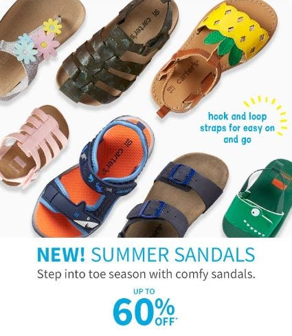 Up to 60% Off Summer Sandals from Carter's