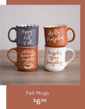 Fall Mugs $6.99 from Kirkland's