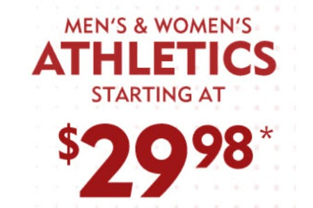 Men's & Women's Athletics Starting at $29.98 from Shoe Carnival