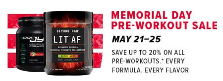 Memorial Day Pre-Workout Sale from GNC
