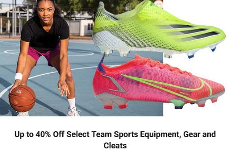 Up to 40% Off Select Team Sports Equipment, Gear and Cleats from Dick's Sporting Goods