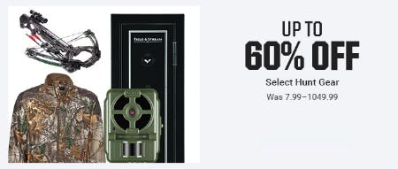 Up to 60% Off Select Hunt Gear