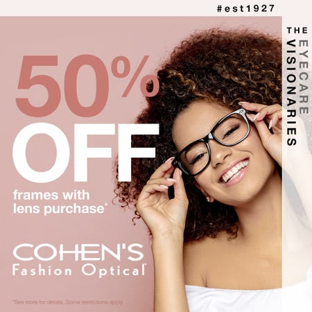 SPRING EYEWEAR SALE from Cohen's Fashion Optical