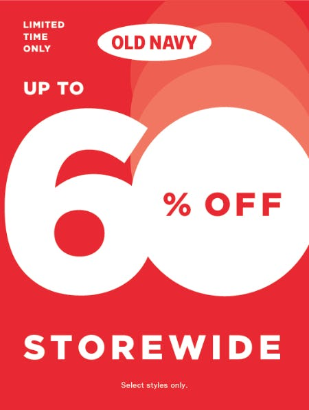 OLD NAVY OUTLET: UP TO 60% OFF STOREWIDE