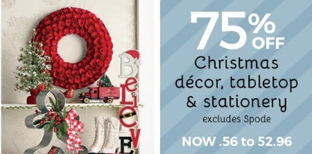 75 off christmas dcor tabletop stationery