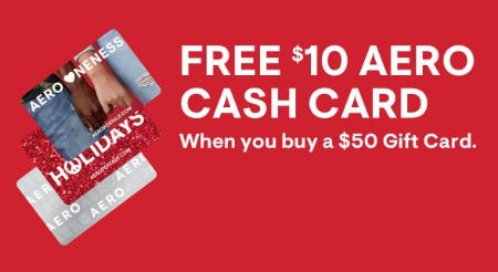 Free $10 Aero Cash Card from Aéropostale