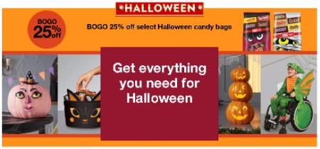 BOGO 25% Off Select Halloween Candy Bags from Target