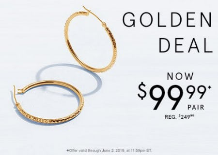 Golden Deal Now $99.99 from Kay Jewelers
