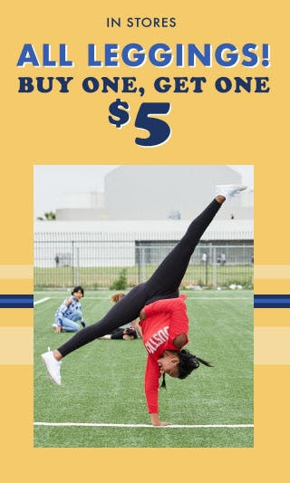 BOGO $5 All Leggings from Justice