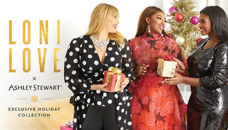 Loni Love X Ashley Stewart Exclusive Holiday Collection from Ashley Stewart