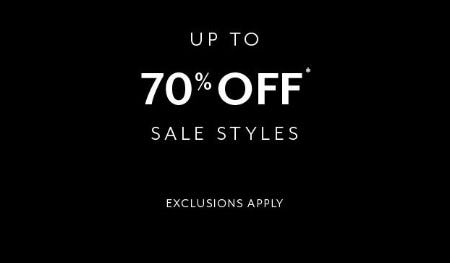 Up to 70% Off Sale Styles