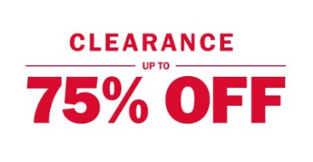 Up to 75% Off Clearance from Old Navy
