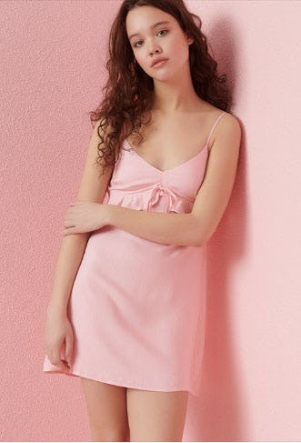 Empire Dress With Frill
