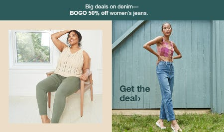 BOGO 50% Off Women's Jeans from Target