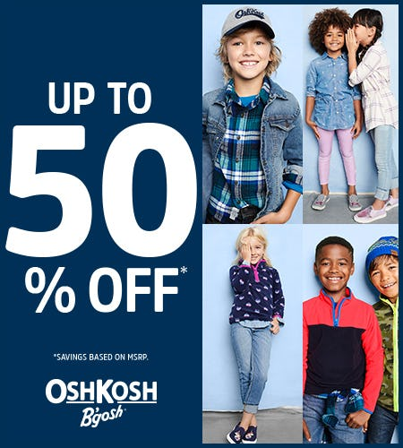 Fall About You- Up to 50% Off from Oshkosh B'gosh