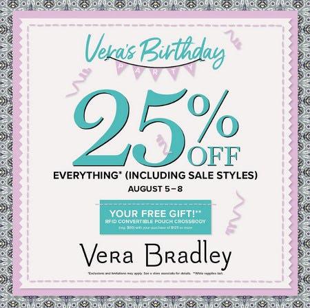 Cue the Confetti! from Vera Bradley