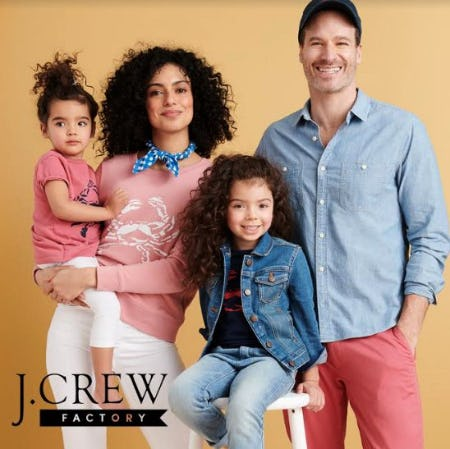 40% OFF STOREWIDE! from J.Crew Factory