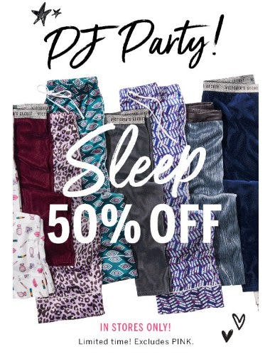 50% Off Sleep from Victoria's Secret