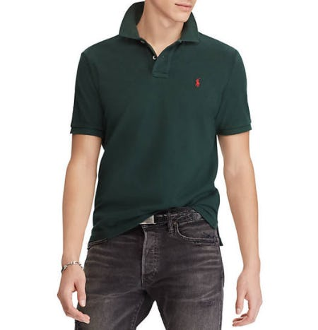 Polo Ralph Lauren Classic Fit Mesh Polo Shirt from Belk