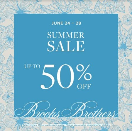 Summer Sale from Brooks Brothers