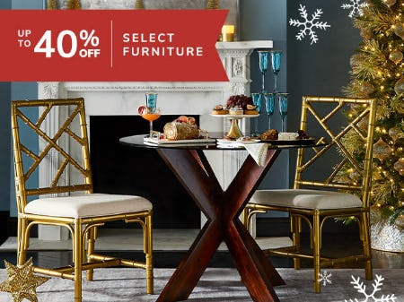 Up to 40% Off Select Furniture from Pier 1 Imports