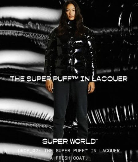 Just Dropped: The Super Puff™ in Lacquer from Aritzia
