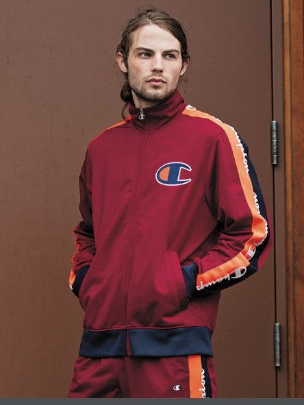 Champion Tricot Cherry Taped Track Jacket from Zumiez
