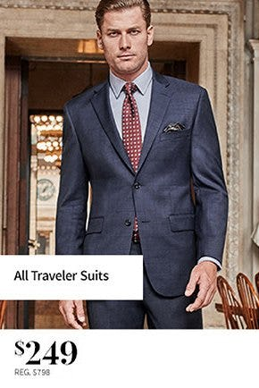 All Traveler Suits $249 from Jos. A. Bank