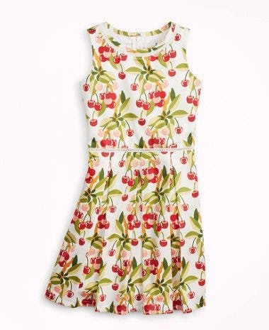 Brooks Brothers  Girls Cherry Print Cotton Sleeveless Dress ($98.50) from Brooks Brothers