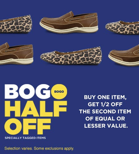 Specially Tagged Items, Buy 1 - Get 2nd Pair 1/2 Off!